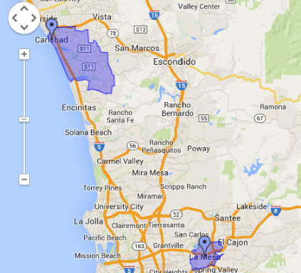 Franchise Location Selection San Diego