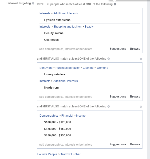 facebook ad targeting for beauty salon, nail salon, hair